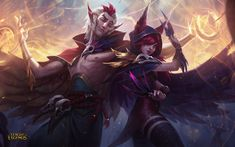 Rakan & Xayah ; Champion Reveal ; League of Legends: http://euw.leagueoflegends.com/en/featured/champion-xayah-rakan-reveal