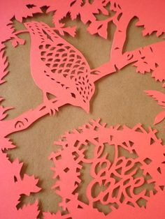 Take Care Bird papercut on etsy