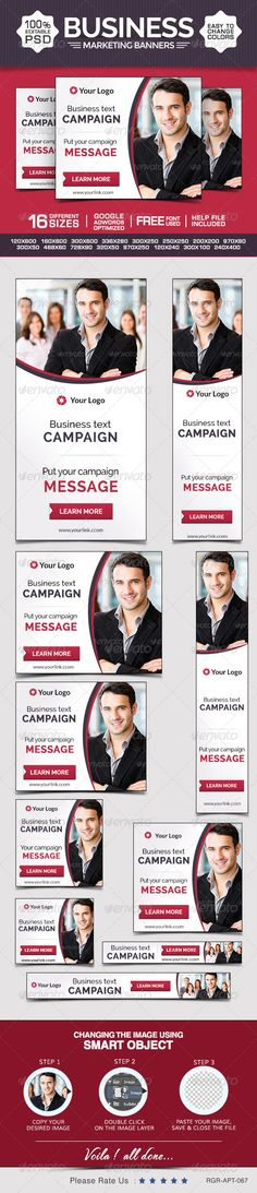 Business & Marketing Banners Template PSD | Buy and Download: http://graphicriver.net/item/business-marketing-banners/8696575?WT.ac=category_thumb&WT.z_author=BannerDesignCo&ref=ksioks