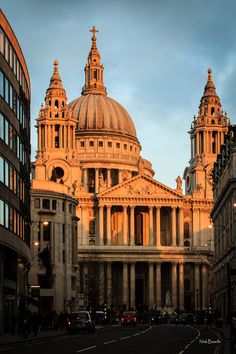 St Pauls at Dusk, London, England. When I was a child I climbed to the very top and the view was magnificent! :)