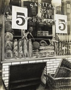 Berenice Abbott     Zito's Bakery, Bleecker Street, New York City      1937