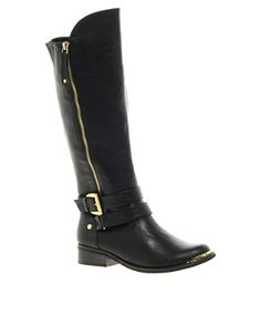 Image 1 ofRiver Island Glam Knee High Boots