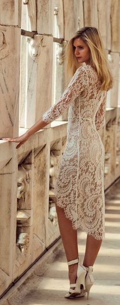 Teenage Fashion Blog: Stunning Lace Dress with Chic Heels | Prom Dress #...