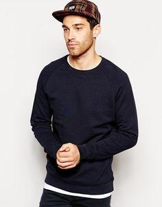 ASOS Sweatshirt With Crew Neck And Raglan Sleeves