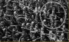 August Landmesser: a courageous, righteous man.  He was the one person who refused to raise his arm to give the Nazi salute at a celebration for ship launch inHamburg 1936... click for more...