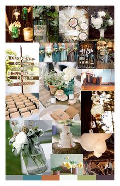 rustic vintage theme wedding | Collect Collect this now for later