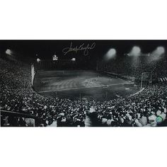 Sandy Koufax Dodgers Night Game at Los Angeles Coliseum 12x23 Photo (MLB Auth)