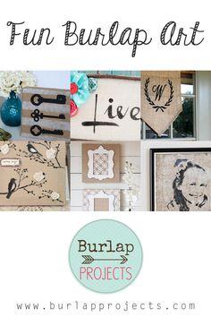 Fun Burlap Art DIY Projects #DIYBurlapProjects, #DIYBurlap, #BurlapArtDIY