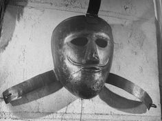 French Torture Mask Made of Iron Which Was Used to Disguise Prisoners Transferred Between Prisons