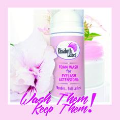 wash them...Keep them... Eyelash extensions foam wash by Elisabeth Lashes