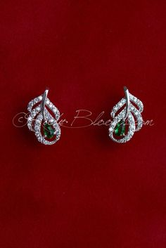 Ruby Blooms is pleased to offer you Timeless, Luxury and Feminine Style - Crystal Cubic Zirconia wedding / bridal earrings. Charming, elegant sparkling jewelry accessory for your Peacock theme Wedding