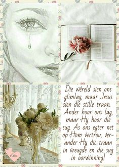 Sympathy Messages, Sympathy Cards, Uplifting Christian Quotes, Afrikaanse Quotes, Bible Love, Special Words, Inspiring Quotes About Life, Inspiring Art, Bible Verses Quotes