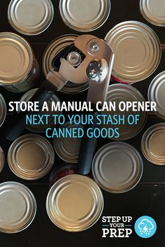 All stocked up on canned goods in case of an emergency? Don't forget to store a manual can opener nearby! Here's a list of the other emergency disaster supplies you should be storing at home.