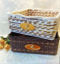 """Купить Лотки для полотенец """"Золотая Ривьера"""" - золотой, корзина плетеная, Корзина для хранения, бельевая корзина"""