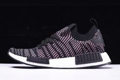 e08aa0b05c4d2 2018 adidas NMD R1 Primeknit STLT Core Black Grey Four Solar Pink Shoes To  Buy Adidas