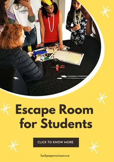 Playing Games? At school? Yes. Your students are going to play. They're also going to learn. And they're not going to realize they're doing both at the same time. Escape The Classroom, Escape Room For Kids, Escape Room Puzzles, Party Activities, Classroom Activities, Party Games, Playing Games, Games To Play, School Games