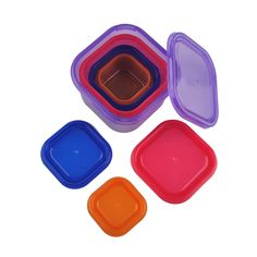 7 in 1 Food Portion Control Plastic Food Container Box Kit Eating Plan With Guide Leak Proof BPA Free For Fitness or Lose Weight