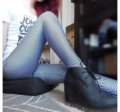 You Make Me Sick Leggings by Black Milk Clothing