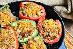 Chicken Fajita Stuffed Peppers 1 from willcookforsmiles.com #stuffedpeppers #chicken #chickenrecipe