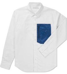 Head Porter Plus Blue Nylon Pocket Shirt Hypebeast Store