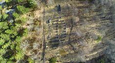 Steinsetningene på Istrehågan sett rett ovenfra. Saga, City Photo