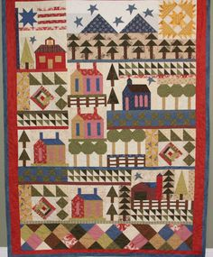 My little Country Town Quilt.  Created by Critterbug Creations Karen Olsen