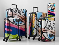 """If It's Hip, It's Here: Luggage """"Tag"""" - Tumi Collaborates With Graffiti Artist Crash For Limited Edition."""