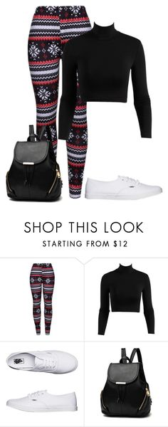 """""""Untitled #478"""" by stephaniasant on Polyvore featuring WithChic and Vans"""