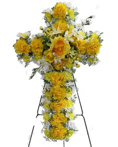 10 best silk flowers to go for gravesites images on pinterest silk flower deluxe cross of roses carnations bell flowers greens mounted on mightylinksfo