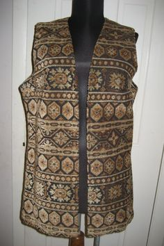 Vintage 1960's 70's Aladdin Boho Carpet Vest Tapestry Hippy Sleevless Jacket by Tindashop on Etsy
