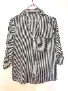 Chemise ceintrée rayée Zara ! Taille 38 / 10 / M à seulement 15.00 €. Par ici : http://www.vinted.fr/mode-femmes/blouses-and-chemises/25525088-chemise-ceintree-rayee.