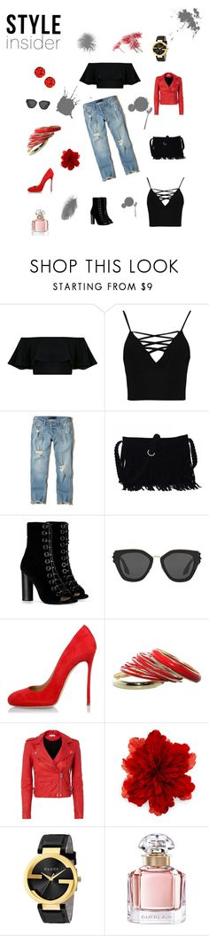 """my first set"" by brcaninovic-aida ❤ liked on Polyvore featuring Boohoo, Hollister Co., Barbara Bui, Prada, Dsquared2, IRO, Gucci, Guerlain and topic"