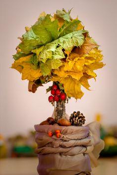 Осенний букет из листьев autumn bouquet