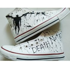 Anime Death Note Custom Hand Painted Hi-Top Canvas Shoes Unisex