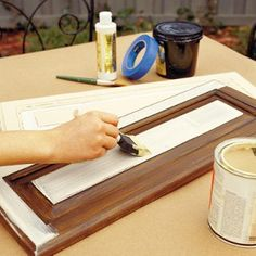 """Paint kitchen cabinets- was hoping to find a """"no sanding"""" miracle method, but this might have to do."""