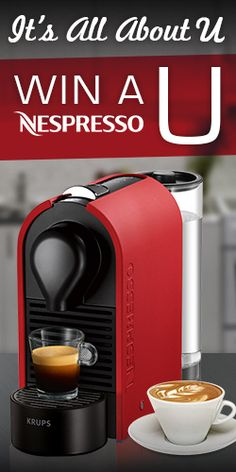 Win A Nespresso U Automatic Espresso Machine Automatic Espresso Machine, Nespresso Machine, Coffee Maker, Cooking, Coffee Maker Machine, Kitchen, Coffee Percolator, Coffeemaker, Cuisine