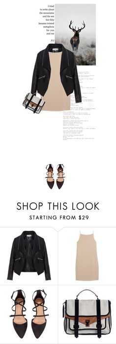 """""""it's all metaphors for you and me"""" by rosa-loves-skittles ❤ liked on Polyvore featuring Zizzi, T By Alexander Wang, H&M and Proenza Schouler"""
