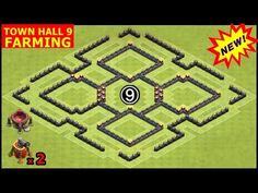 Town Hall 9 / TH9 Northern Teaser Farming Base Defense with Air Sweeper in Clash of Clans - YouTube