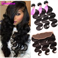 Brazilian Virgin Hair With Closure Brazilian Body Wave With Frontal Human Hair 13x4 Ear To Ear Lace Frontal Closure With Bundles