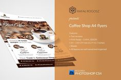 Coffee Shop Flyer Templates by buttonpl on @creativemarket