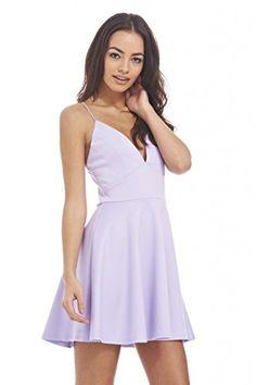 AX Paris Women's Plain Plunge Front Skater Lilac Dress(Purple, Size:10) AxParis http://www.amazon.com/dp/B00XOWND00/ref=cm_sw_r_pi_dp_2Nz4wb1TKV7Y3