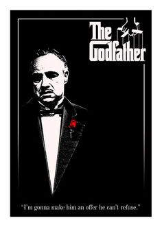 The Godfather Movie Poster, available at 45x32cm and 50x70. This poster is printed on matt coated 350 gram paper.  Also available on mat Blockmount on 50x70cm.