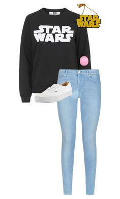"""""""././...//...//.../.../"""" by anna-mae-equils on Polyvore featuring Tee and Cake, 7 For All Mankind, Vans, Eos and Chicnova Fashion"""