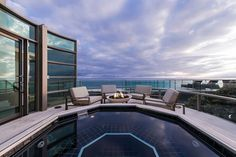 View from the private deck of the lavish Malibu beach house