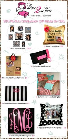 2013 Perfect Graduation Gift Ideas for Girls | Sorority and Dorm Room Bedding