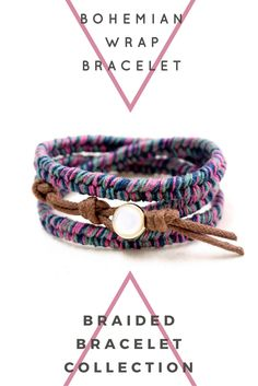 Bohemian Wrap Bracelet by @WeaveTassyCo   Are you looking for boho jewelry? This boho wrap bracelet is perfect for a boho or even a casual everyday look! It's easy to wear and very comfortable for everyday use. Click to see more colors.