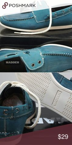 Men's loafers shoes size 7 turquoise new New in box very stylish. Handling time is 3 to 5 days. Madden Shoes Loafers & Slip-Ons
