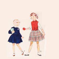 Vintage 1950s Girls Suit Pattern Uncut by RebeccasVintageSalon, $12.00