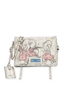 d9989c74d Prada Small Bunny Print Etiquette | Neiman Marcus Prada Bag, Prada  Handbags, Purses And