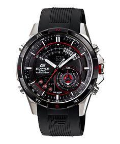 ERA-200B-1AVDF นาฬิกาข้อมือสำหรับผู้ชาย ตัวเรือนสแตนเลสสตีล สายเรซิ่น โดดเด่นด้วยระบบเข็มทิศดิจิตอล มีโลโก้ EDIFICE ที่หัวเม็ดมะยมและด้านหลัง ดีไซน์สวยหรู